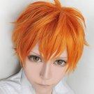 Haikyuu volleyball guys hinata shyouyou orange short cosplay wig