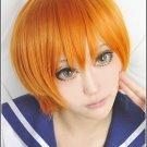 LOVE LIVE Hoshizora Rin orange short anime Cosplay wig