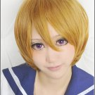 LOVE LIVE Hanayo Koizumi tea brown short animen Cosplay costume  wig