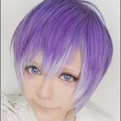 DIABOLIK LOVERS Sakamaki Kanato short purple mix anime cosplay wig
