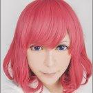 Noragami Hiyori Iki pink curly short anime cosplay costume wig