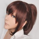 Anime Attack on Titan Investigation Corps Sasha Blouse red brown clip tail cosplay wig