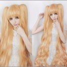 Rozen Maiden Kirakishou blonde 150cm curly wavy cosplay wig 150cm ponytail