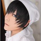 Hoozuki no Reitetsu Hakutaku  black short anime cosplay costume wig + free wig cap