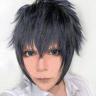 FINAL FANTASY XV FF15 Noctis Lucis Caelum blue black short cosplay costume wig