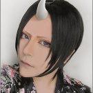 Hoozuki no Reitetsu Hoozuki black short anime cosplay costume wig