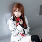 Vampire Knight Kurosu Kuran Yuki Makise Kurisu long 100cm straight red brown anime cosplay wig