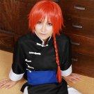 Gintama kamui orange long braid anime cosplay wig