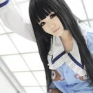 God's Notebook Alice long 100cm straight black anime cosplay wig