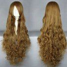 Code Geass Nunnally Sara Mudou 90cm long curly linen anime cosplay wig