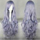 Rozen Maiden arasuisyou Rose quartz long 90cm curly gray purple anime cosplay wig