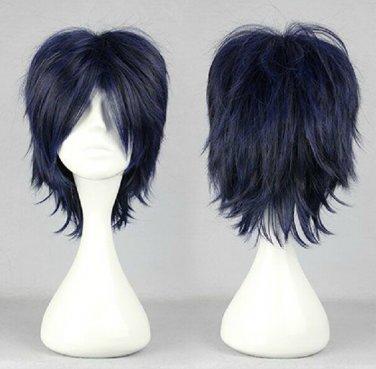 Prince of Tennis Chitose Senri D.Gray-Man Road Kamelot short dark blue mix anime cosplay wig