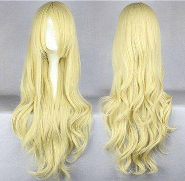 TouHou Project Kirisame Marisa MARISTAR long curly blonde 80cm anime cosplay wig