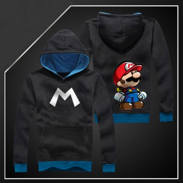 Super Mario Bros Anime Cosplay unisex long Sleeve Hoodie sweatshirt