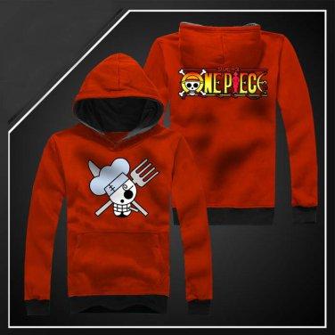 ONE PIECE Sanji Anime Cosplay unisex long Sleeve Hoodie sweatshirt Sweater