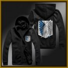 Investigation Corps Attack on Titan Mikasa zipper anime cosplay cardigan hoodie coat sweatshirt