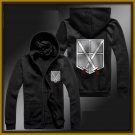 training corps Attack on Titan Armin zipper anime cosplay cardigan hoodie coat sweatshirt