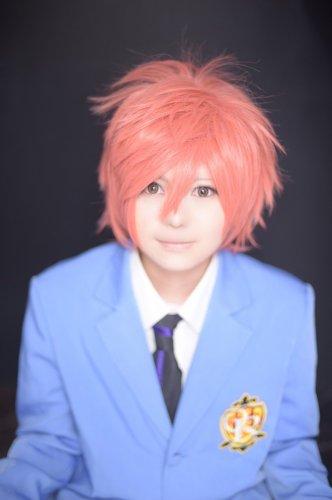 Ouran High School Host Club Hikaru Hitachiin short orange anime cosplay wig