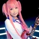 ANGEL BEATS Yui long straight pink 80cm anime cosplay wig
