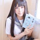 Hyouka Chitanda Eru long straight 80cm brown anime cosplay wig