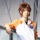 HitmanReborn Sawada Tsunayoshi short brown anime cosplay wig