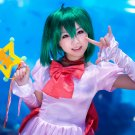 Macross F Ranka Lee short dark green anime cosplay wig