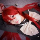 Shakugan no Shana Shana long red straight anime cosplay wig 100cm