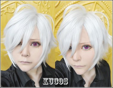 Brothers Conflict Asahina Tsubaki Short Silver White Cosplay Wig +free shipping
