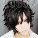 DEVIL SURVIVOR HITMAN LAMBO 2 Kuze Hibiki short black anime Cosplay wig