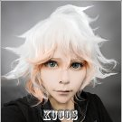 Danganronpa Dangan-Ronpa Komaeda Nagito short white mix pink short styled cosplay wig