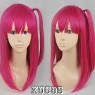 Magi Morgana short dark rose red anime cosplay full wig