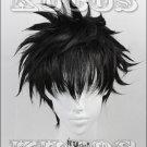 Detective Conan Kuroba Kaito Kid the Phantom Thief short black anime cosplay full wig