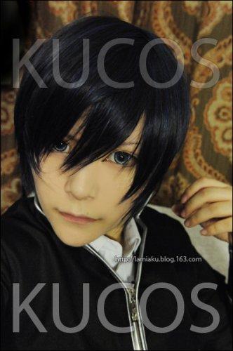 Code:Breaker Oogami Rei short black blue anime cosplay full wig