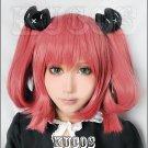 chuunibyou demo koi ga shitai Shichimiya Satone light red anime cosplay full wig + 2 clips ponytails