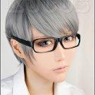 Persona 4: The Animation Yu Narukami short gray anime cosplay full wig