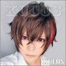VOCALOID ren ai saiban short brown red mix anime cosplay full wig