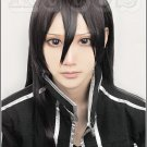 sword art online 2 SAO Kirigaya Kazuto long 100cm straight chocolate color anime cosplay full wig
