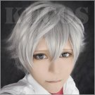 EVA Neon Genesis Evangelion Nagisa Kaworu prince short gray anime Cosplay wig