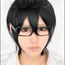 Zankyou no Terror NINE short black Anime Cosplay Wig + free wig cap