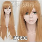 VOCALOID kaobontandeki girl long straight 80cm cosplay wig