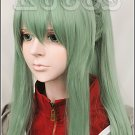 Kagerou Project Kido Tsubomi long straight ponytail green cosplay wig MekakuCity Actors