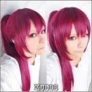 Free Gou Matsuoka purple clip on ponytail 70cm cosplay wig