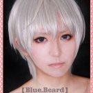 valvrave L-ELF Karlstein/Eruerufu Karurusutain white gray short cosplay wig