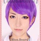 Tokyo Ghou Shuu Tsukiyama short purple anime cosplay wig
