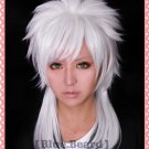 Magi-The Labyrinth of Magic Sharrkan Long Silver White Cosplay Wig