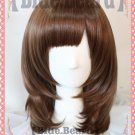 Wolf Girl and Black Prince Erika Shinohara short chocolate brown 45cm anime cosplay wig