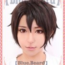 Aldnoah Zero Kaizuka Inaho short black brown anime cosplay wig