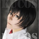 LOST ZERO shiba tatsuya short black anime cosplay wig