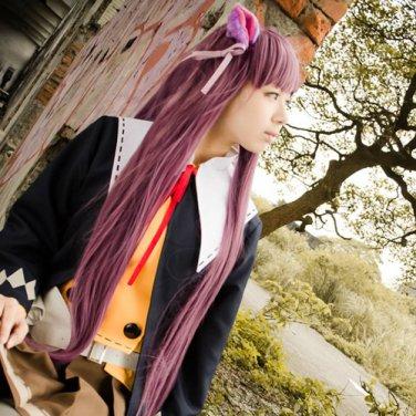 unlight Ayin long 100cm straight rose Wine purple anime cosplay wig