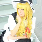 TouHou Project Kirisame Marisa 80cm long curly gold anime cosplay wig